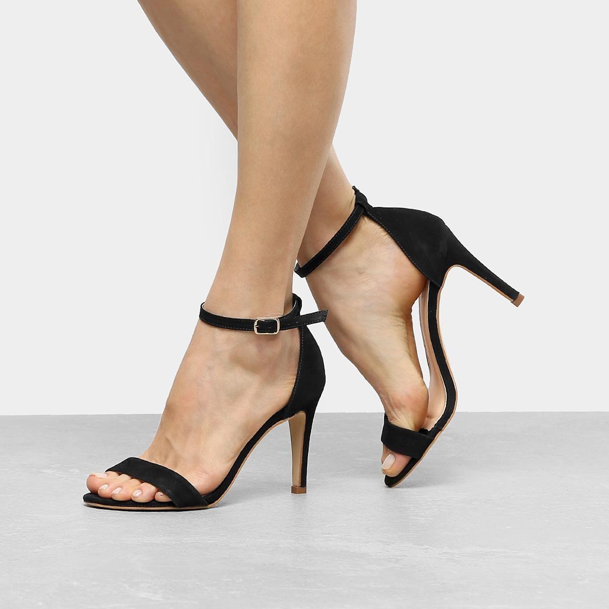 da473b11bf sandália couro shoestock salto fino naked feminina. Carregando zoom.