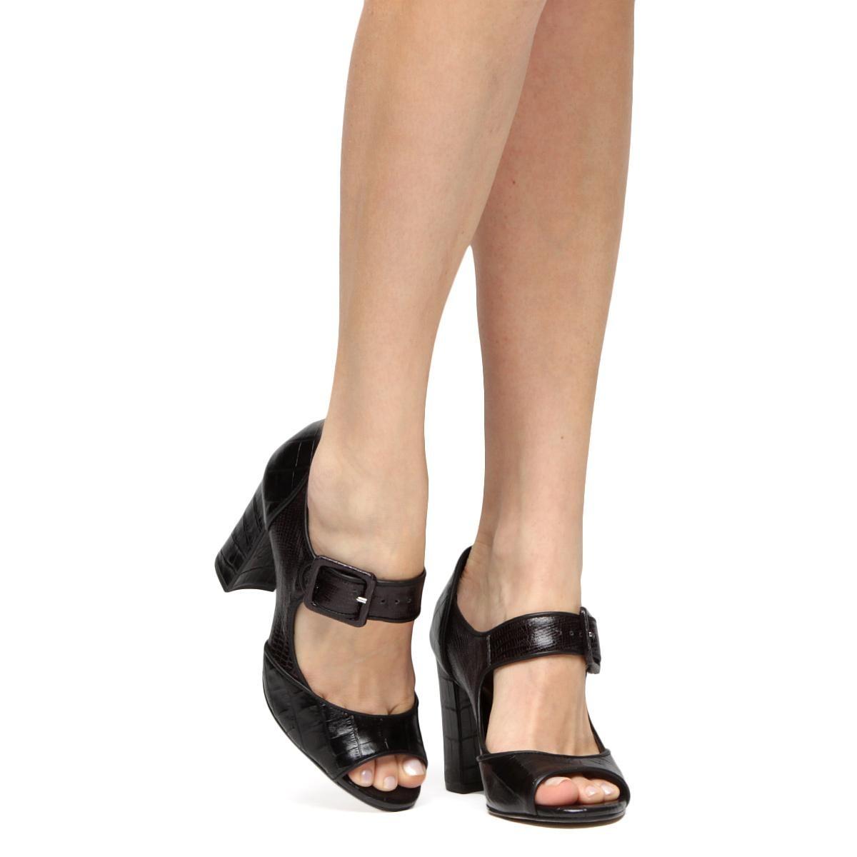 200f3a2d88 sandália couro shoestock salto grosso mary jane feminina. Carregando zoom.