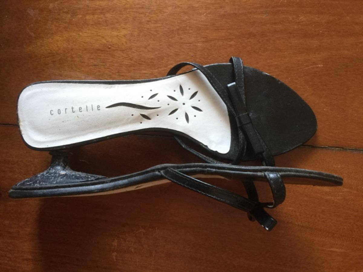 d47f98a8f8 sandália couro tipo tamanco preta laço super confortável 36. Carregando zoom .