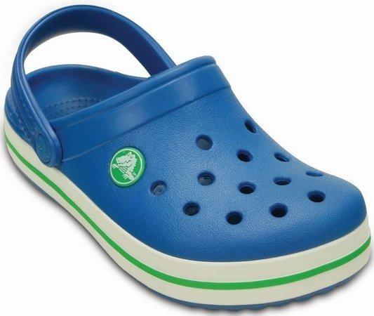 14bb95bd61 Sandália Crocs Crocband Infantil Azul E Verde - 100%original - R ...