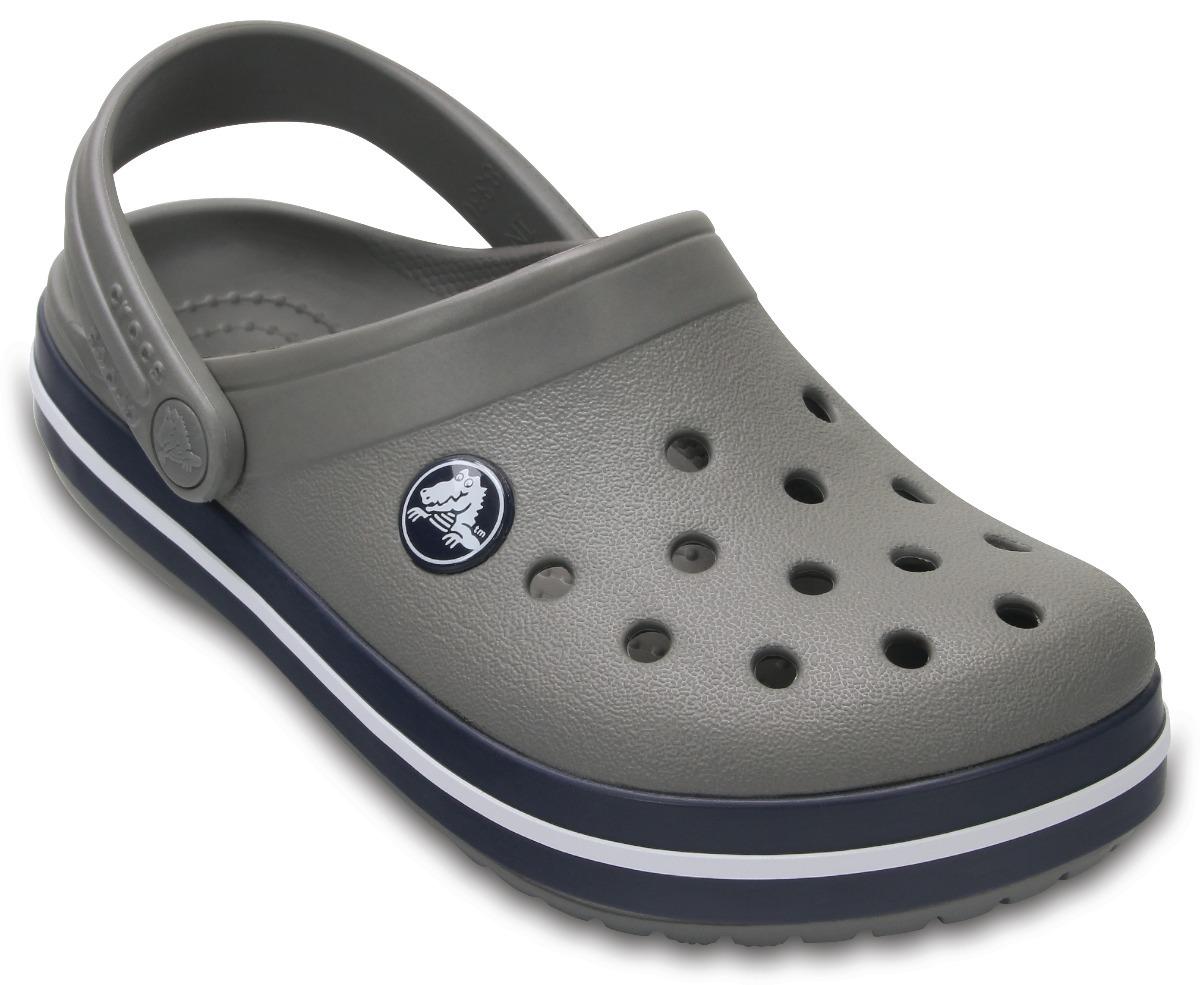 a56b977b8e sandália crocs crocband kids infantil cinza azul original. Carregando zoom.