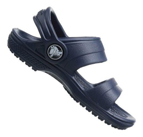 sandália crocs infantil classic sandal k marinho menino