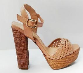 065625cef1 Sandalia Gladiadora Salto Crysalis - Sapatos no Mercado Livre Brasil