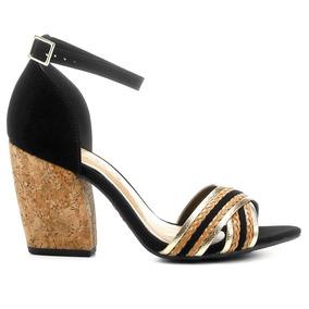 4a79f374f Sandalia Com Salto Trancado Gabriela Feminino - Sapatos no Mercado ...