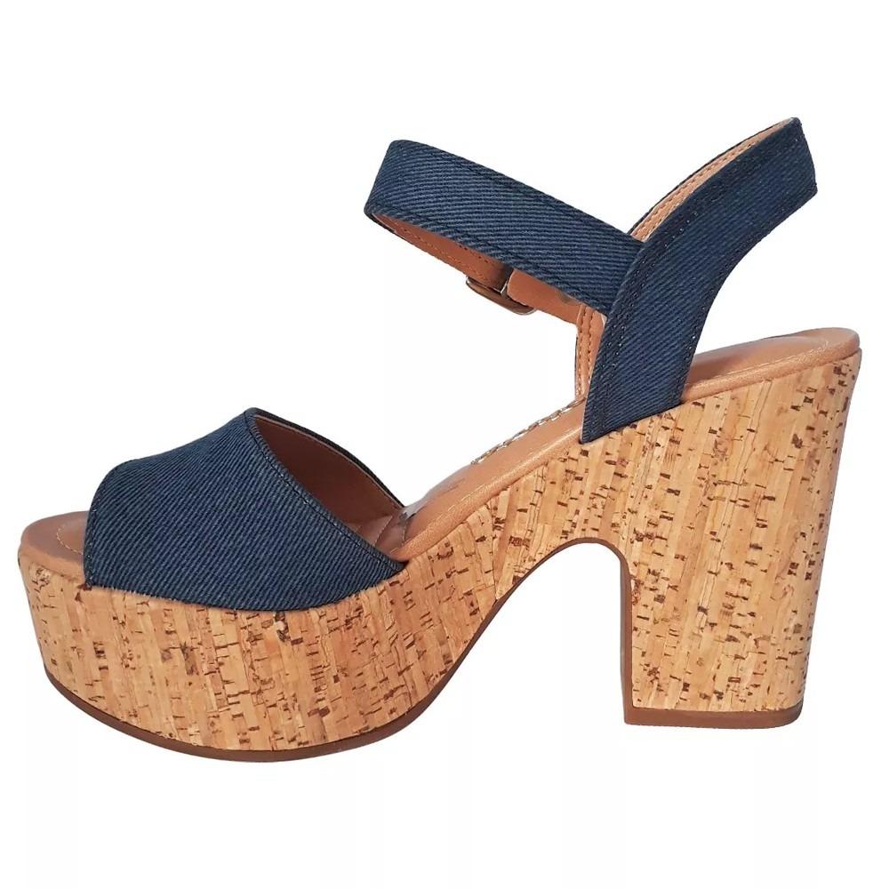 069b48cee sandália dakota feminina salto grosso jeans - frete grátis. Carregando zoom.