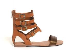 7b9bc99eb4 Suspensório Marrom Castanho Feminino Sandalias - Sapatos no Mercado ...