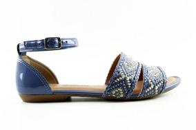 c84fcae3f0 Lojas Besni Sapatos Feminino Rasteiras Dakota - Sapatos Azul no ...