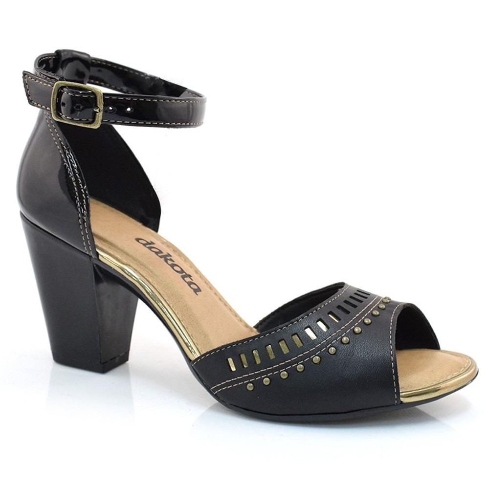 7a12a93580 sandália dakota salto grosso laser preta z2223. Carregando zoom.