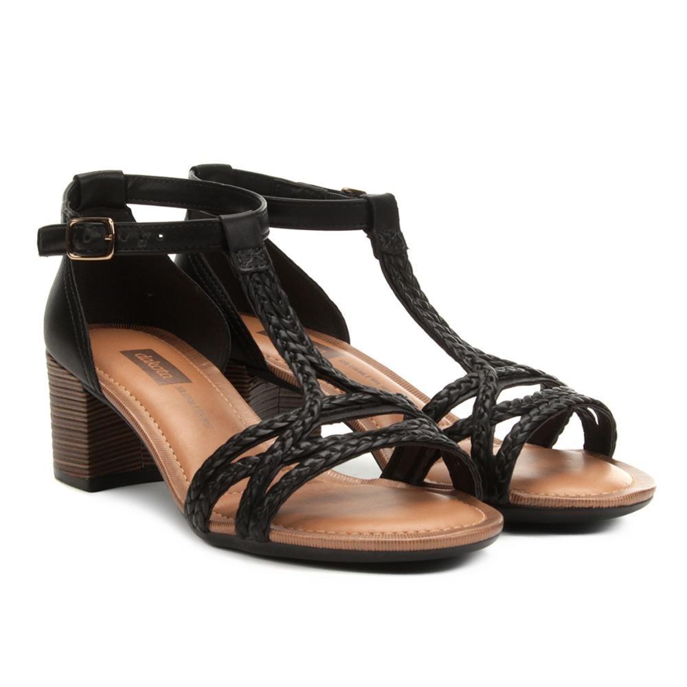 20e6a724d5 sandália dakota salto médio tira trançada feminina. Carregando zoom.