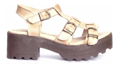 sandalia dama en cuero marcel calzados (cod.17006) natural.