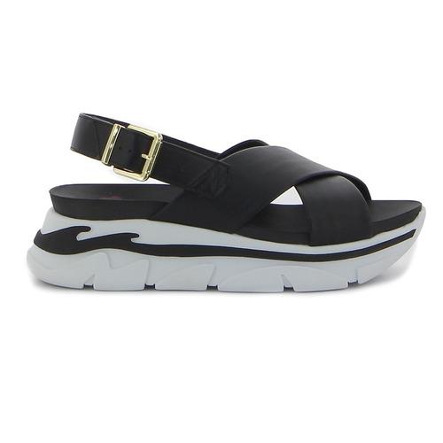 sandalia dama moleca plataforma tiras cruzadas