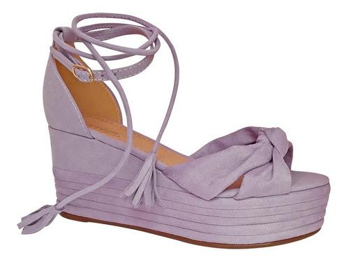 sandalia de amarrar na perna plataforma corda off whitte