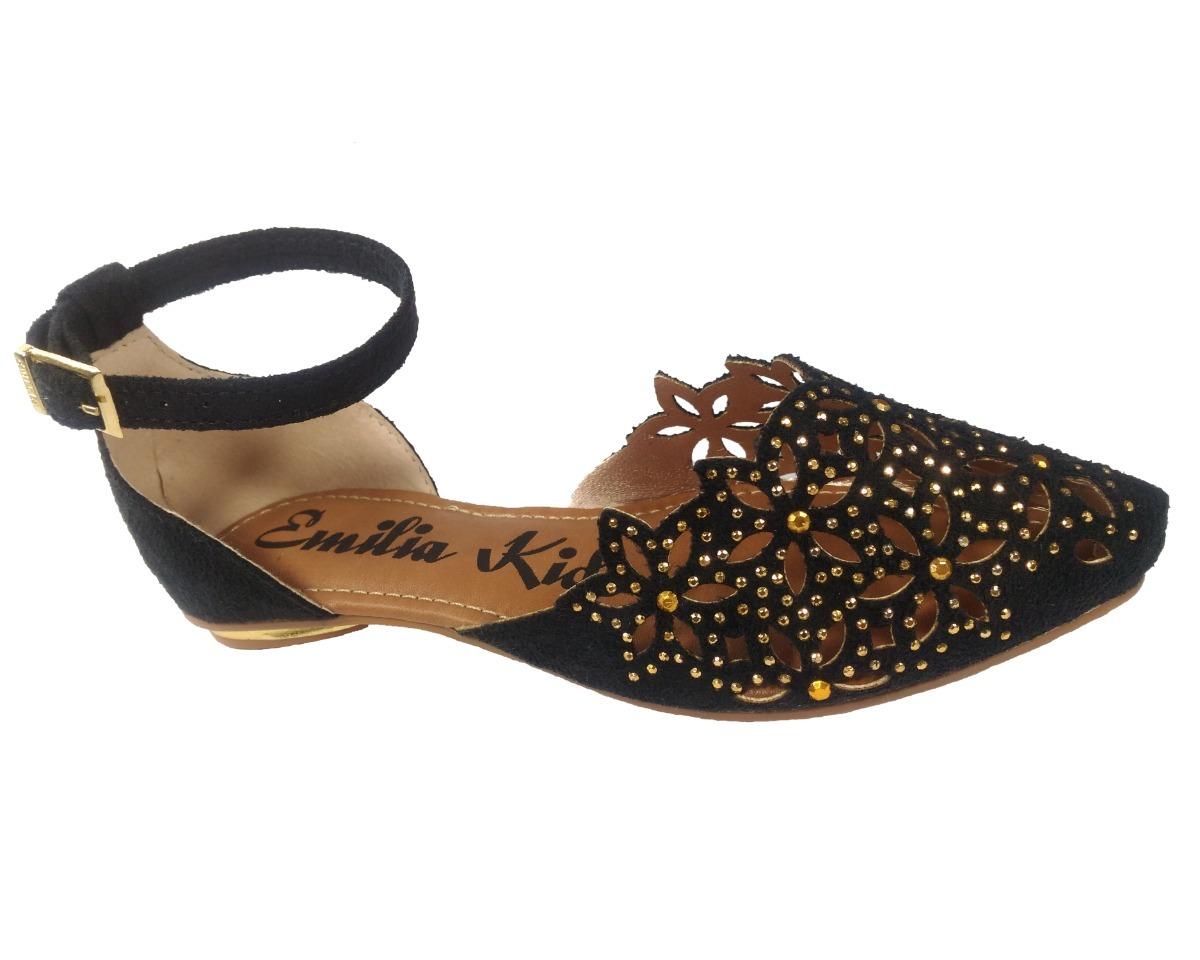 f0b09a9968 sandália de bico fino menina sapatilha infantil. Carregando zoom.