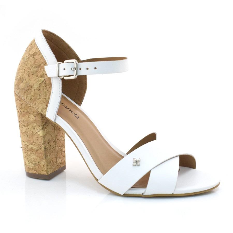 cbf048c2f sandália de couro de salto alto cravo   canela - 151801. Carregando zoom.