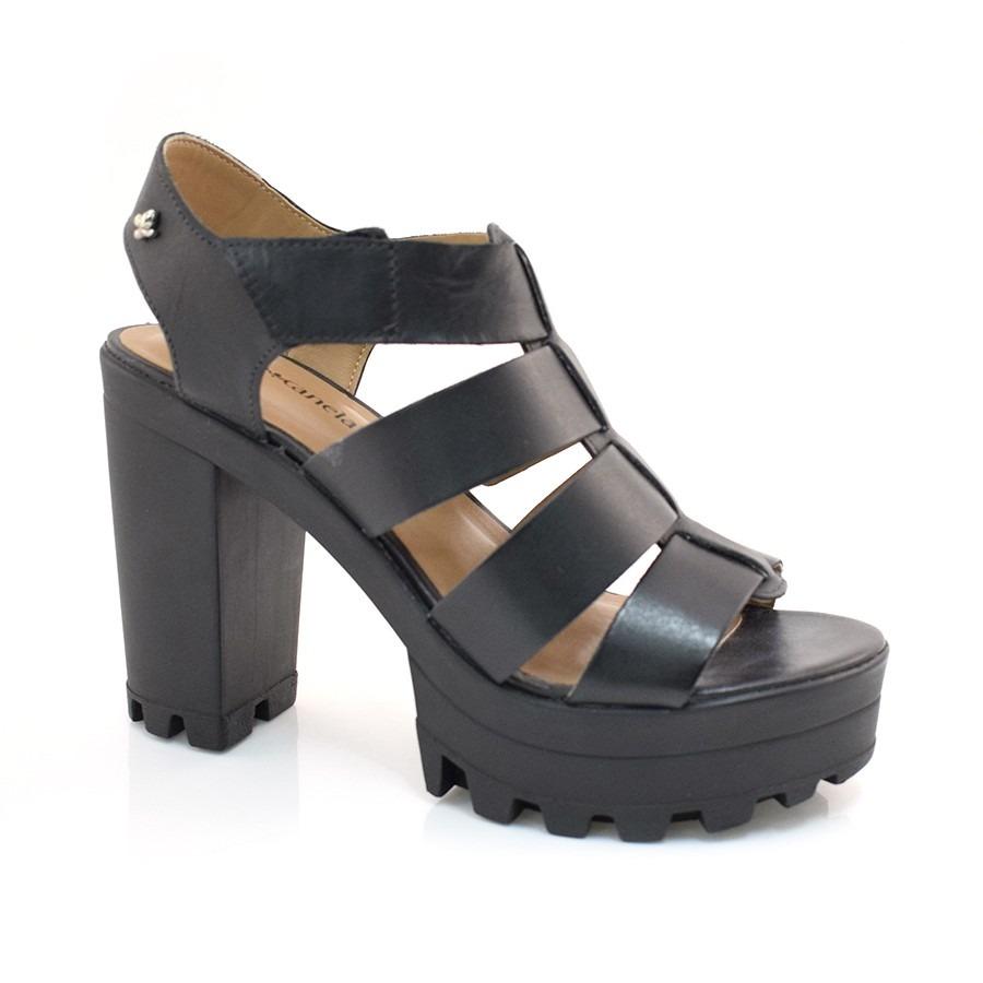 203efbd23 sandália de couro de salto alto cravo e canela - 153904. Carregando zoom.