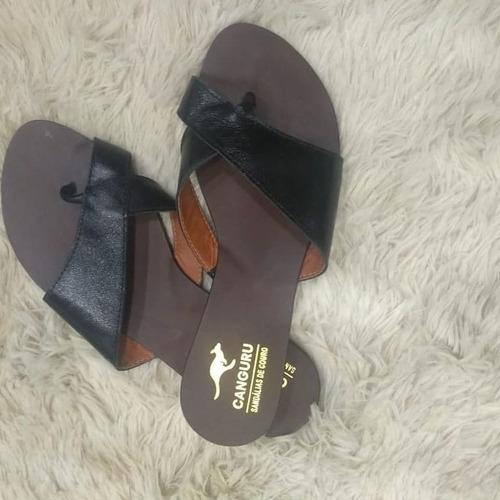 sandália de couro legítimo da canguru