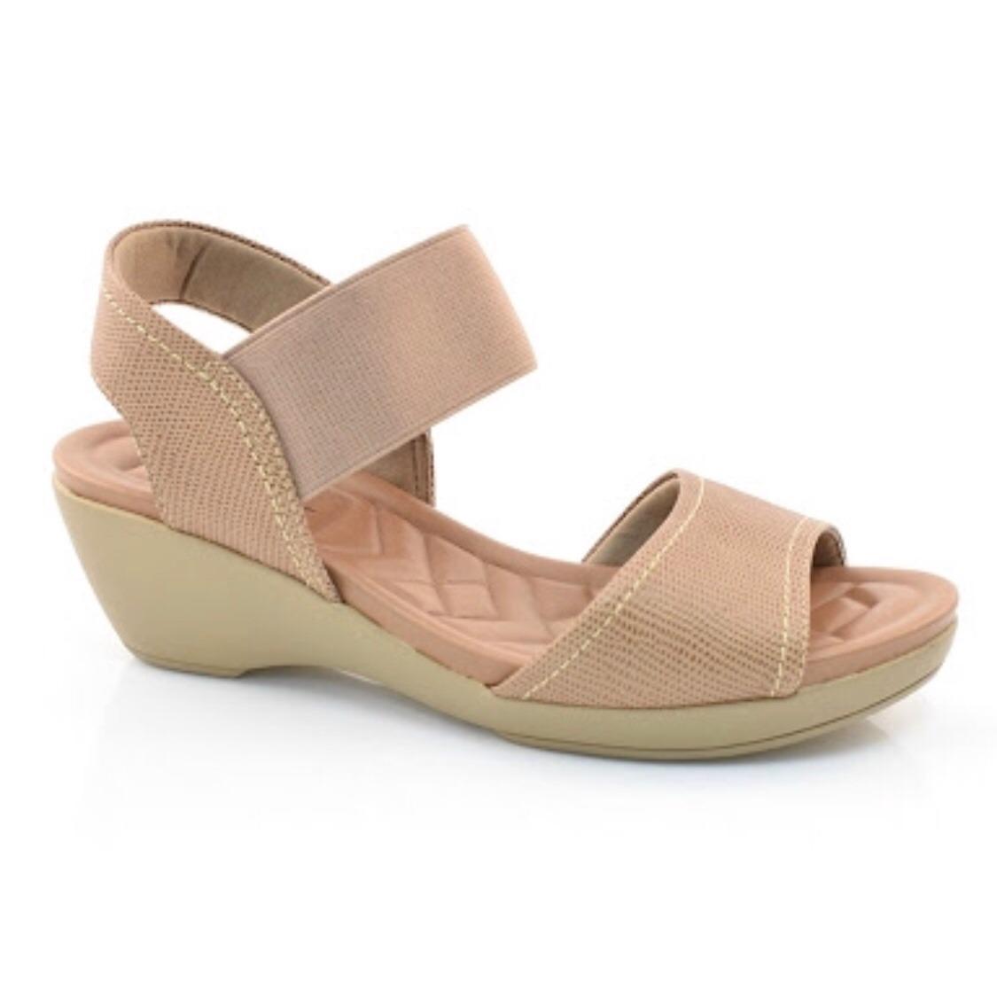f51677213a sandália de couro salto baixo usaflex w 0308 50 bege. Carregando zoom.
