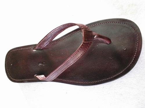 sandalia de cuero artesanal de dama