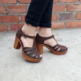 mejores zapatos una gran variedad de modelos recoger Sandalia De Cuero Para Mujer