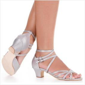 5c61c0acb6 Sapato Sapateado So Danca Meninas - Sapatos para Feminino Prateado ...