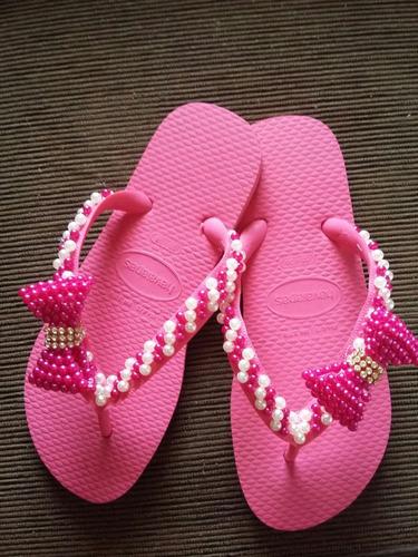 sandalia de perola feminino