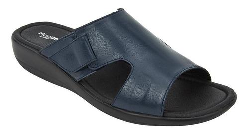 sandalia de piso casual dama marino 020483 mundo terra