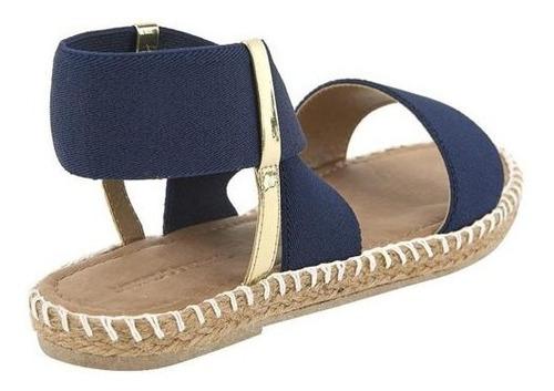 sandalia de piso con yute dama marino mundo terra 020342