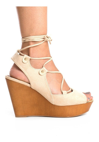 sandalia de plataforma con correas - qupid
