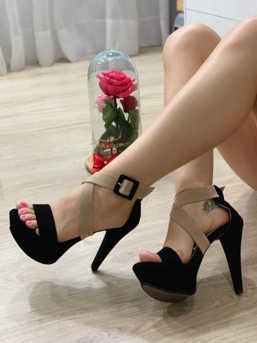 sandalia de plataforma zapato dama moda colombiana