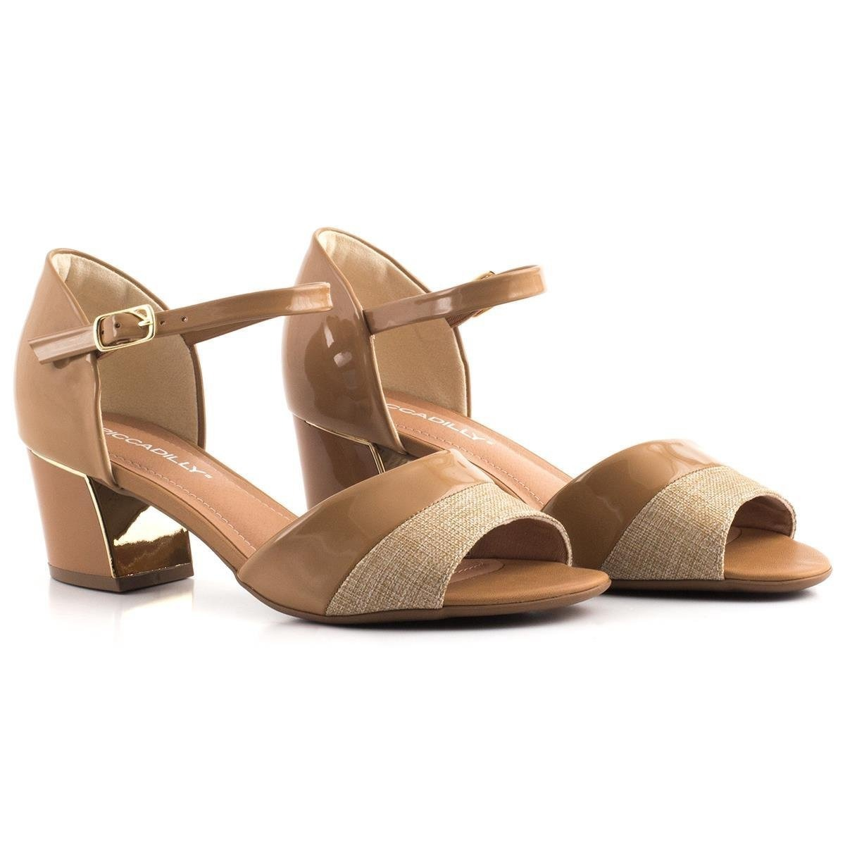9ec2e1e0a8 sandália de salto piccadilly 542059 bege 100% original. Carregando zoom.