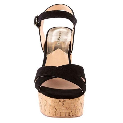 sandalia de tiras cruzadas frontales negro mod.11649