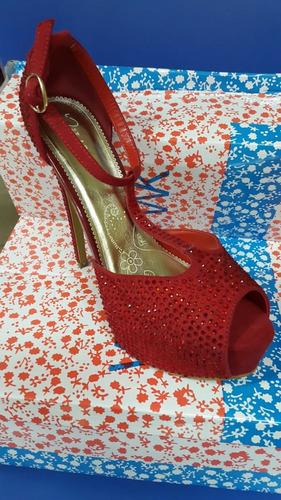 sandalia de vestir con pedrerias