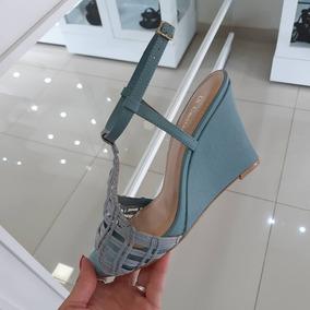 827b0b14b Sandalias Anabela Di Cristalli Feminino - Sapatos no Mercado Livre ...