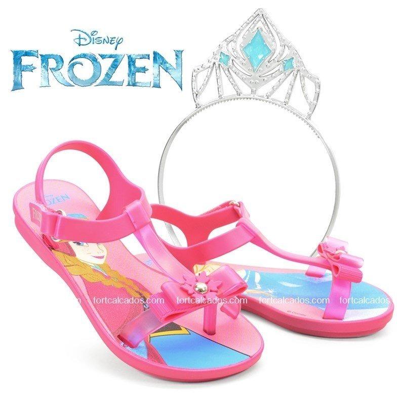 07c04670c Sandália Disney Frozen Ice Magic Rosa Magenta + Brinde - 21 - R  23 ...