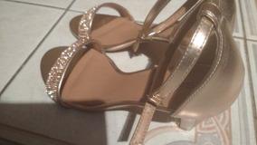 0754d23f22 Sandalia De Salto Grosso Com Strass - Sapatos