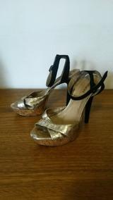 5f10b355ec Sandalia Salto Datelli Dourada N Feminino Sandalias - Calçados ...