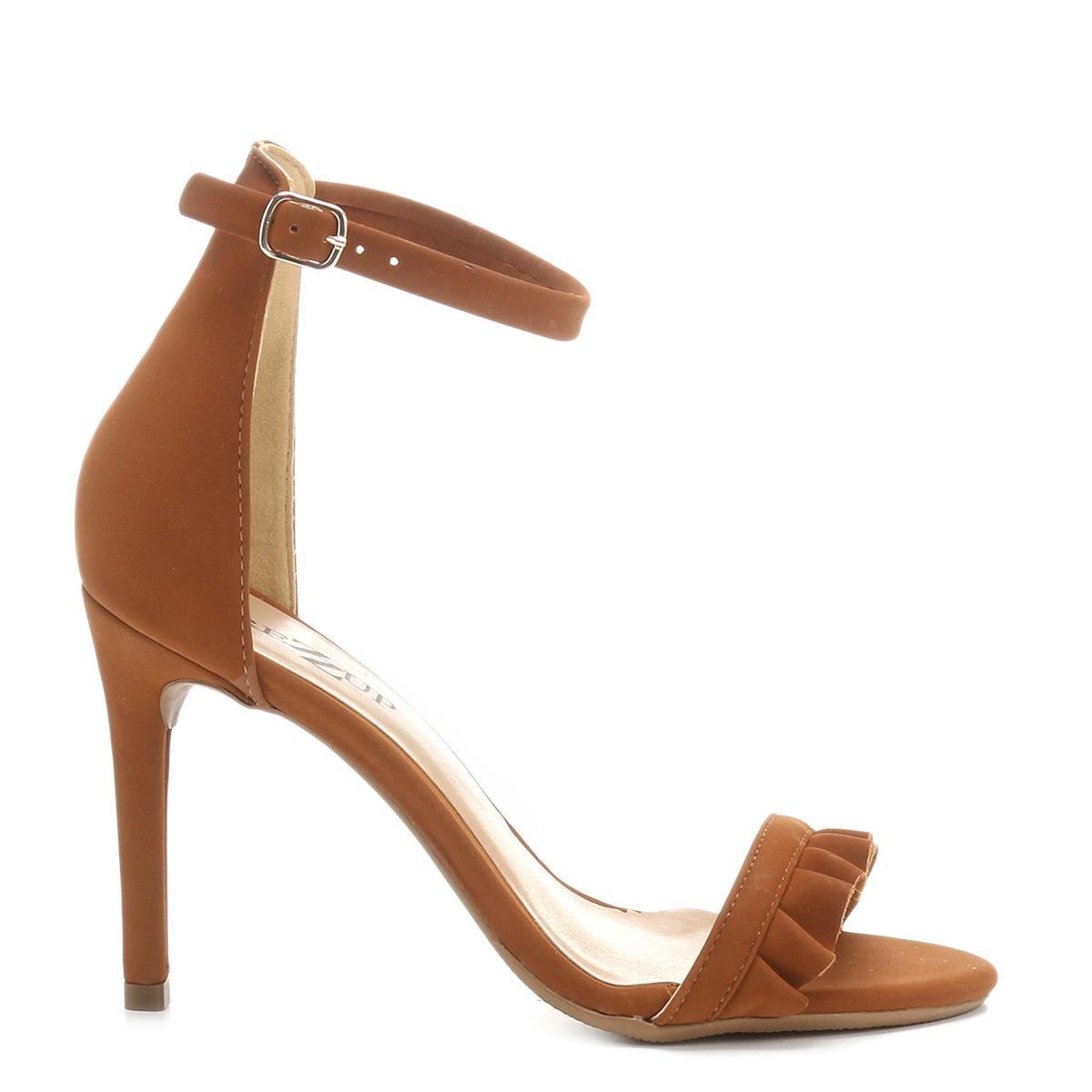 192de7f804 sandália drezzup salto fino babados feminina. Carregando zoom.