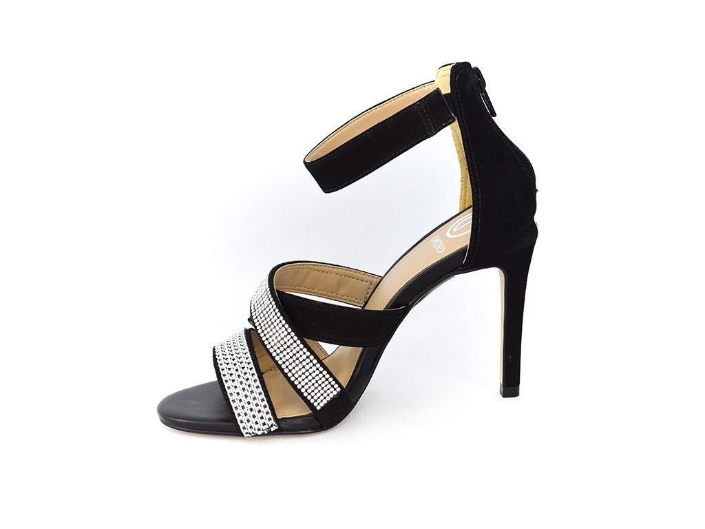 09e5ce73a5 sandália dumond 4113422 strass nobuck preto islen calçados. Carregando zoom.