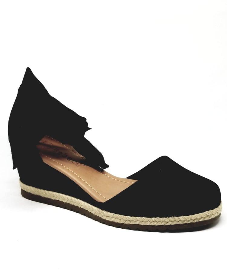 9be84263f3 sandália espadrille amarrar anabela camurça bebecê 5814-558. Carregando  zoom.