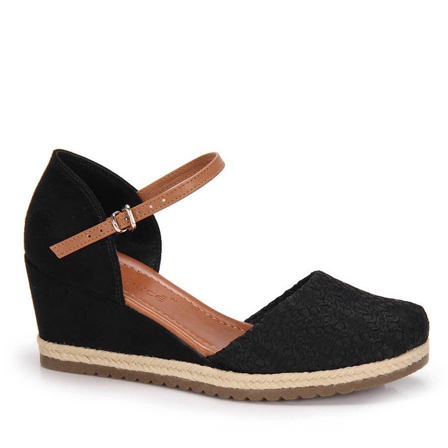 5a5dba6be sandália espadrille anabela bebecê - preto. Carregando zoom.