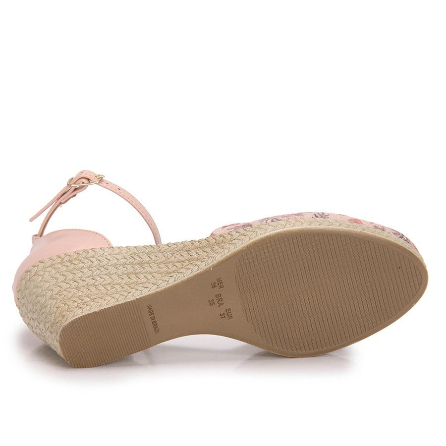 ff5b5539ac sandália espadrille anabela dariely lurex - estampado. Carregando zoom.