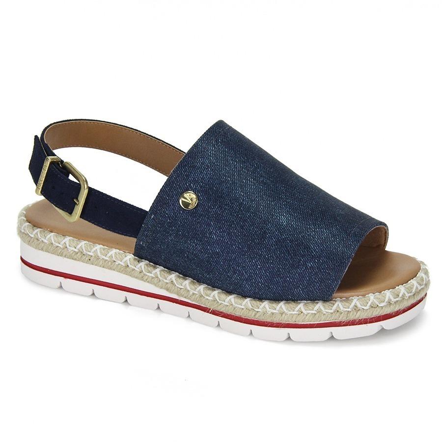 b6385d440 sandália espadrille anabela vizzano flatform-marinho/escuro. Carregando zoom .