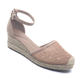 aa178d12ee Sandálias Espadrilles Anabela Com Salto De Corda - Calçados