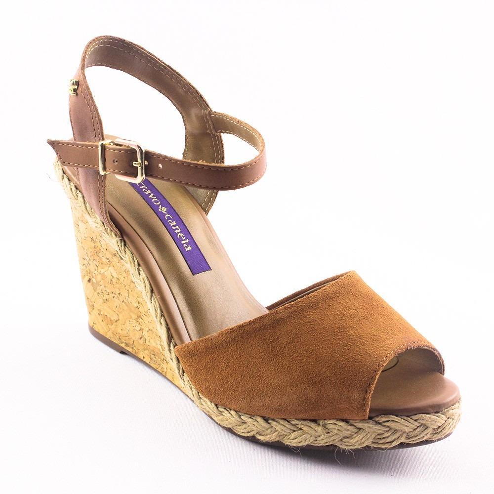 d762707d4 sandália feminina anabela cravo e canela marrom. Carregando zoom.