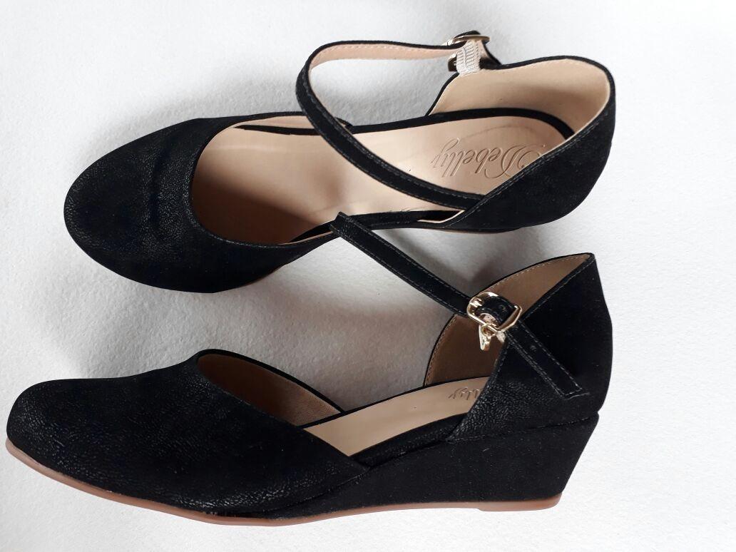 f903da4b4f sandália feminina anabela espadrille salto baixo preto. Carregando zoom.