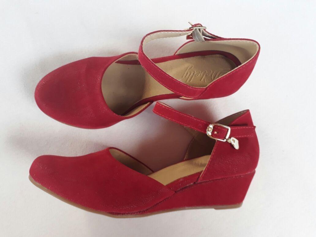 f7a5c342b sandália feminina anabela espadrille salto baixo vermelha. Carregando zoom.