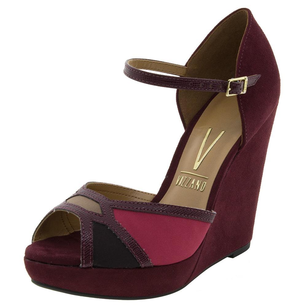13971cce2c sandália feminina anabela multi vinho vizzano - 6215151. Carregando zoom.