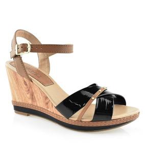 a714773e54 Sandalia Anabela Salto Rolha Feminino Vizzano - Sapatos no Mercado Livre  Brasil