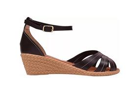 35a8fa527c Sandalia Feminina Anabela Salto Medio Corda G044 - Sapatos no ...