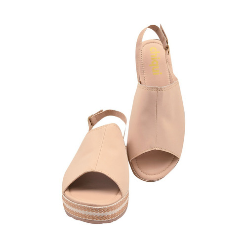 sandalia feminina anabela tratorada rasteirinha moda jln 169
